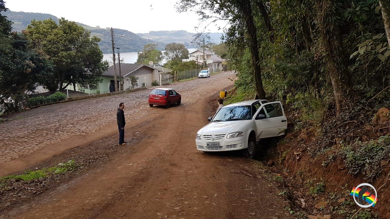 Idosa fica ferida em atropelamento em Itapiranga