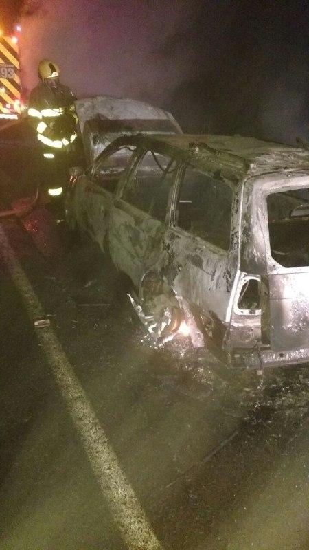 Corpo é encontrado dentro de veículo queimado em Chapecó