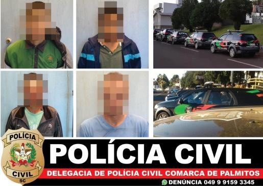 Polícia Civil realiza Operação Irmãos Metralha e prende três suspeitos de tráfico de drogas