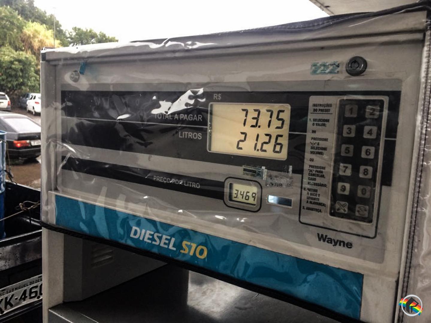 Veja quais os postos baixaram os R$ 0,46 centavos do Diesel no município