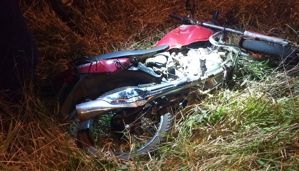 Motociclista fica ferido em acidente na BR-163