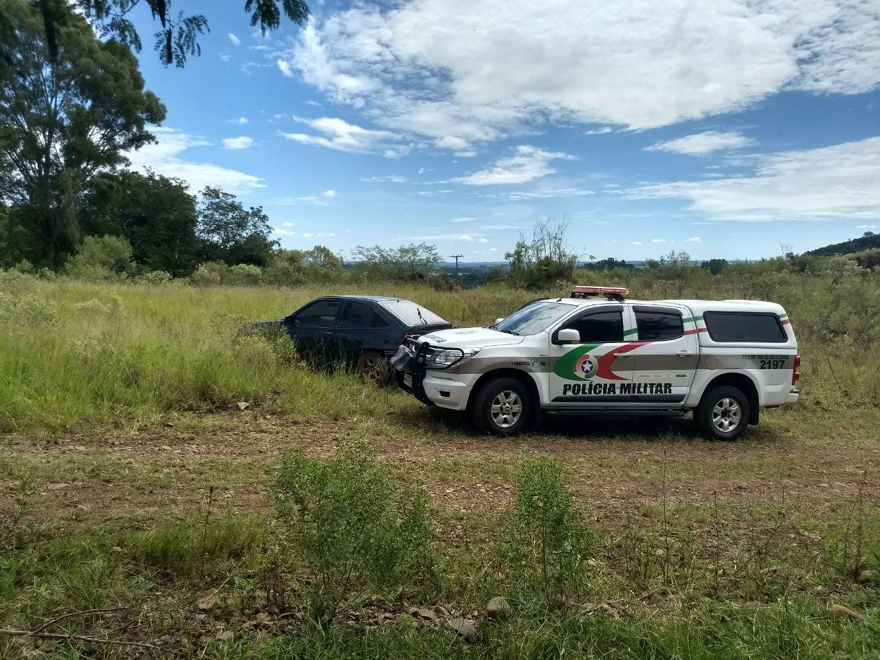 PM de São José do Cedro recupera veículo furtado após denúncia