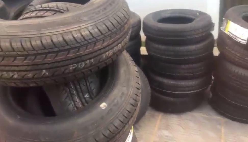 PRF apreende pneus de origem paraguaia em São José do Cedro