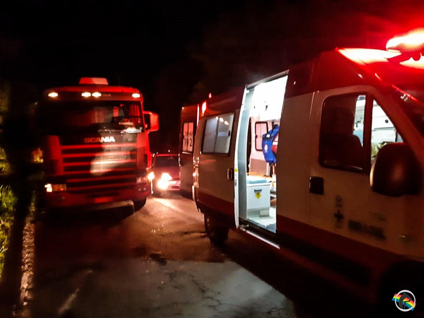 VÍDEO: Acidente na BR-282 deixa mulher ferida