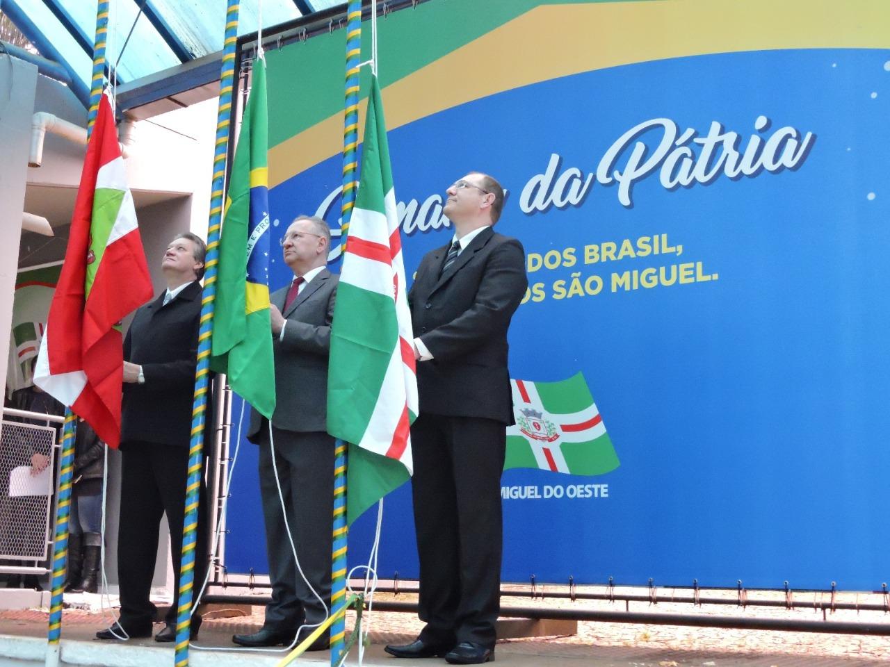 Festejos da Semana da Pátria 2018 iniciam em São Miguel do Oeste