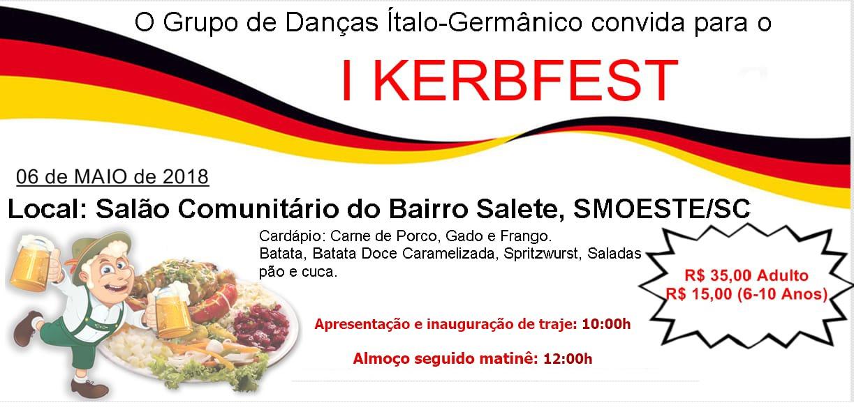 1º KERBFEST acontece neste domingo em São Miguel do Oeste