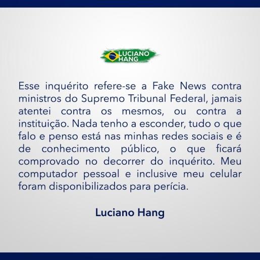 Luciano Hang emite nota sobre operação da Polícia Federal