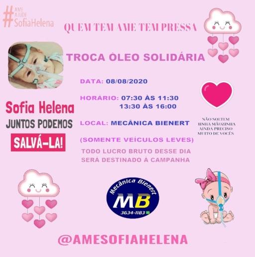 Empresa de Iporã do Oeste promove ação solidária em prol da menina Sofia Helena