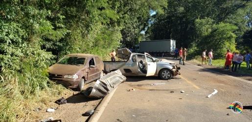 Grave acidente na SC 163 deixa uma mulher morta e outra ferida