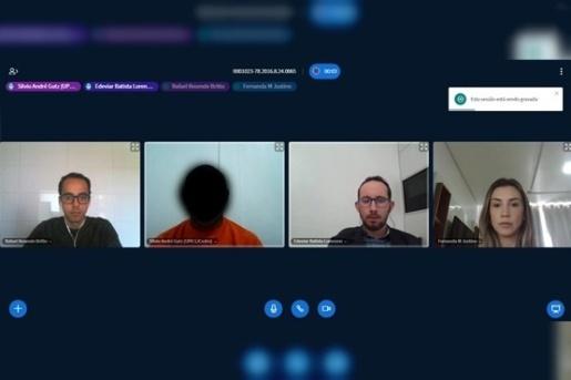 Comarca de São José do Cedro realiza 1ª audiência 100% virtual
