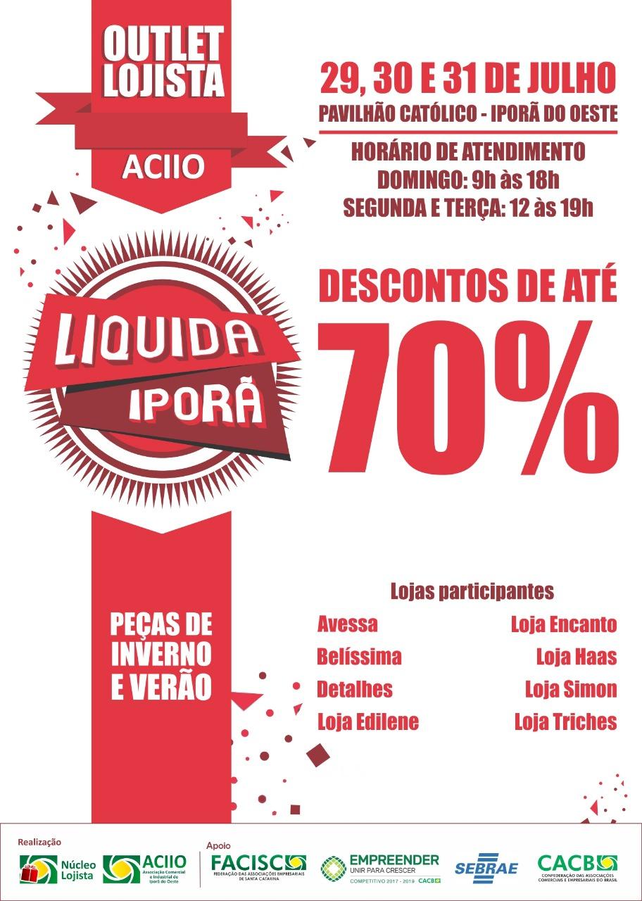 Núcleo dos Lojistas promove mais uma edição do Liquida Iporã