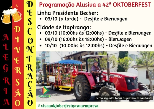 Entidades se unem para realizar evento alusivo a Oktoberfest de Itapiranga
