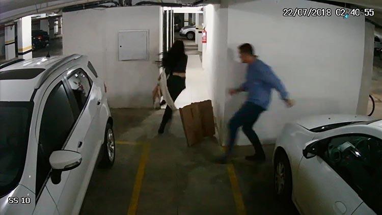 VÍDEO: Imagens mostram agressões de marido à advogada no Paraná