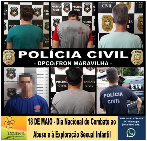Polícia Civil de Maravilha já prendeu cinco homens por crimes sexuais neste ano