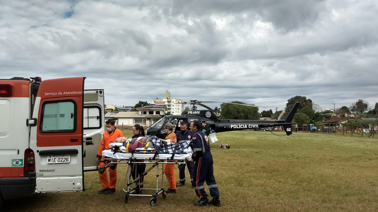 Helicóptero do Saer realiza duas transferências de urgência na região
