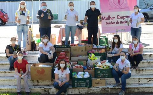 Núcleo da Mulher Empresária de Itapiranga realiza campanha Páscoa Solidária
