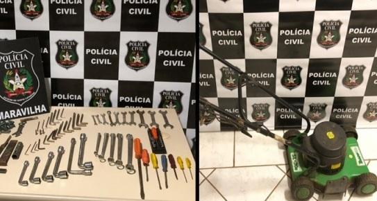 Polícia Civil de Maravilha recupera produtos furtados