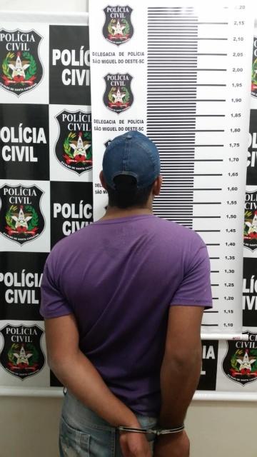 Policia Civil prende autor de tentativa de homicídio em São Miguel do Oeste