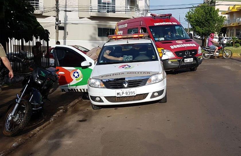 Casal argentino fica ferido em acidente no centro de Dionísio Cerqueira