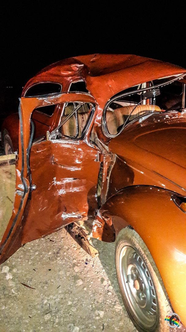Colisão envolvendo carro e moto deixa quatro pessoas feridas na BR-282