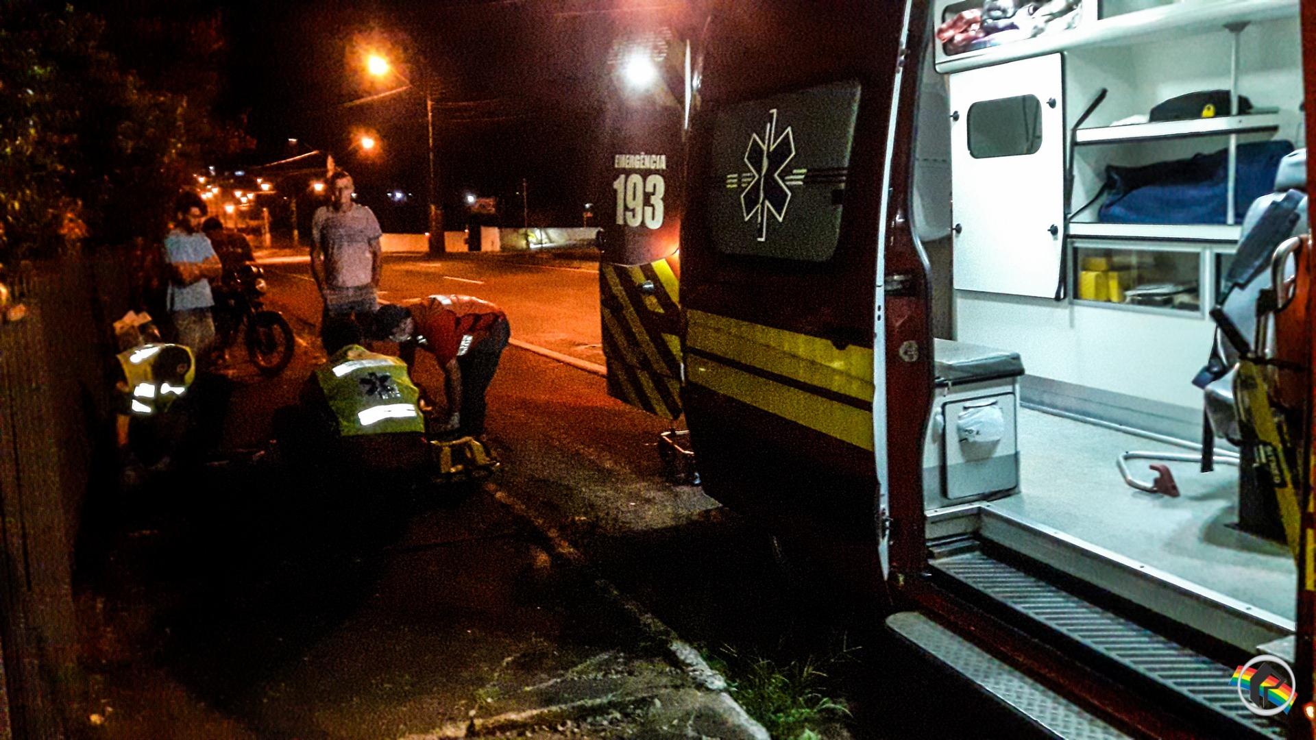 VÍDEO: Acidente envolvendo veículo do DNIT deixa motociclista ferido