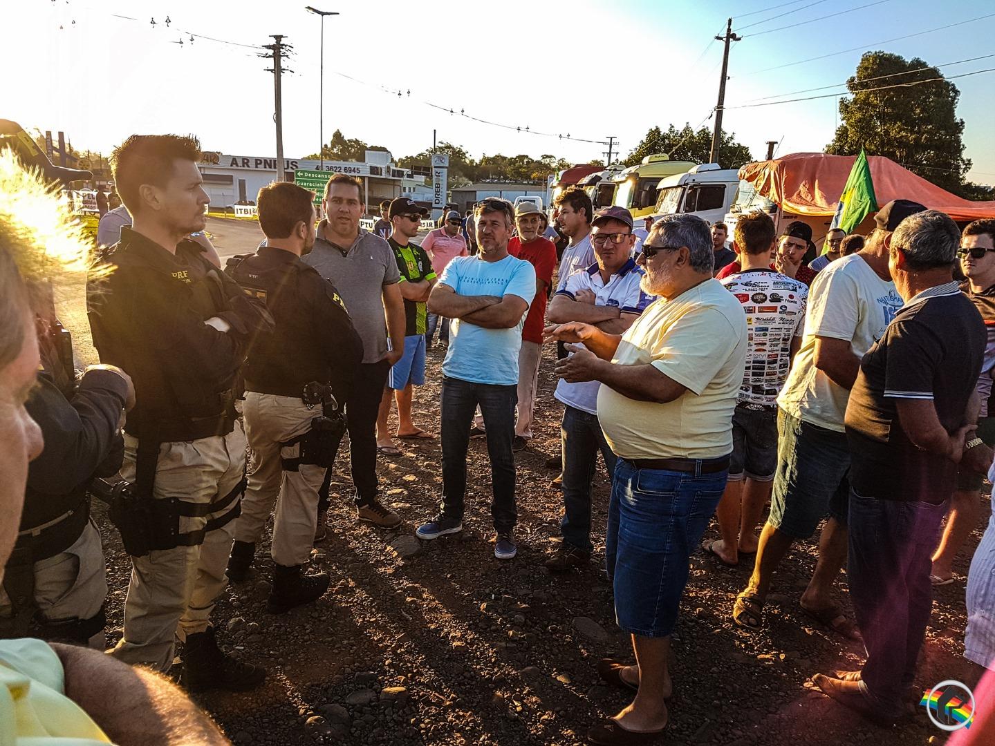 VÍDEO: PRF faz verificação da manifestação no município
