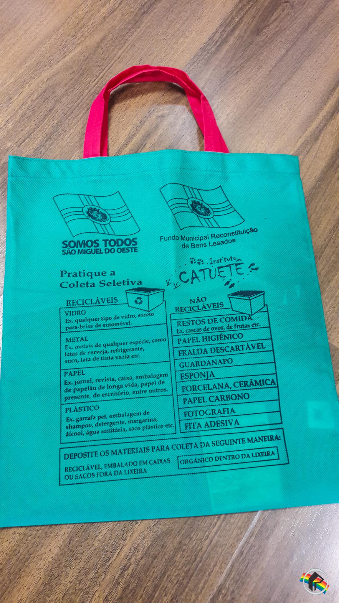Instituto Catuetê vai distribuir cinco mil sacolas retornáveis aos mercados