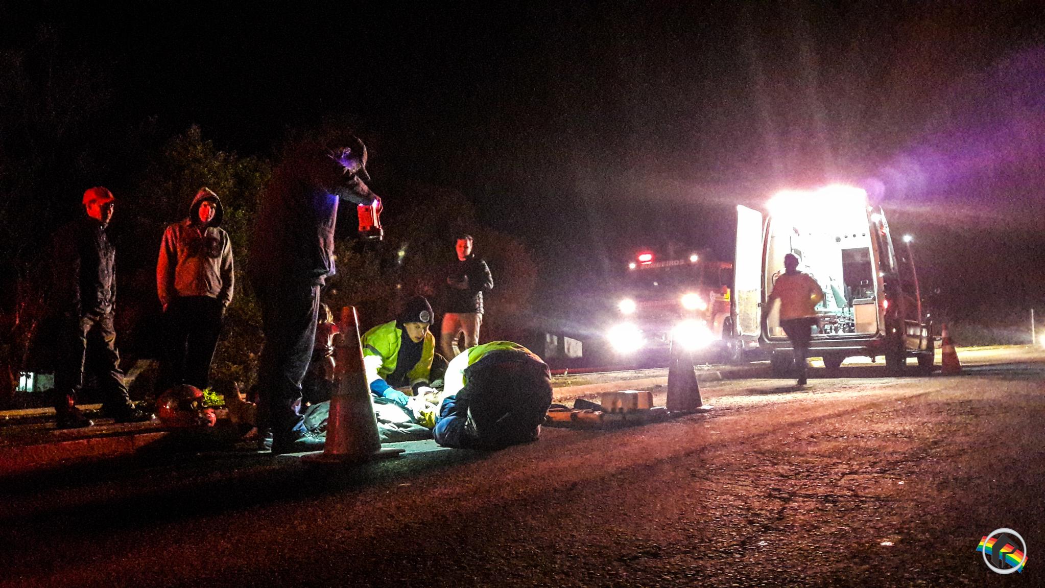 VÍDEO: Queda deixa motociclista ferido na BR-163 em São Miguel do Oeste