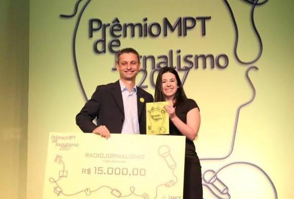 Jornalista da Peperi conquista 1º lugar no prêmio do Ministério Público do Trabalho