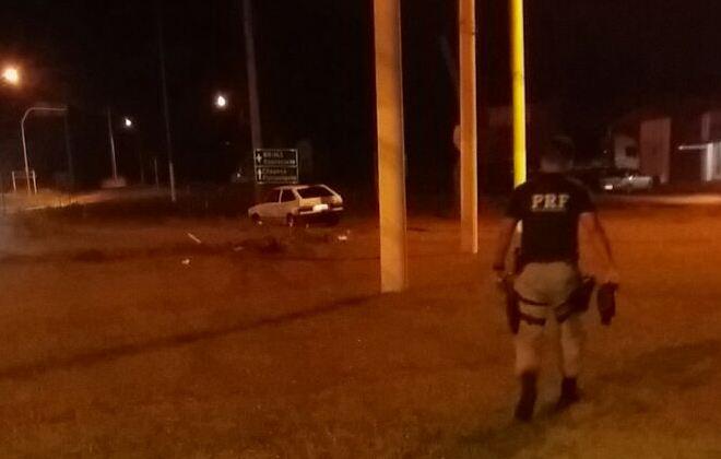Veículos colidem no trevo de acesso a São Miguel do Oeste