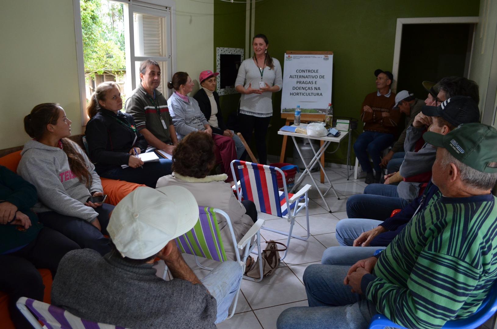 Produtores participam de dia de campo sobre cultivo de hortaliças