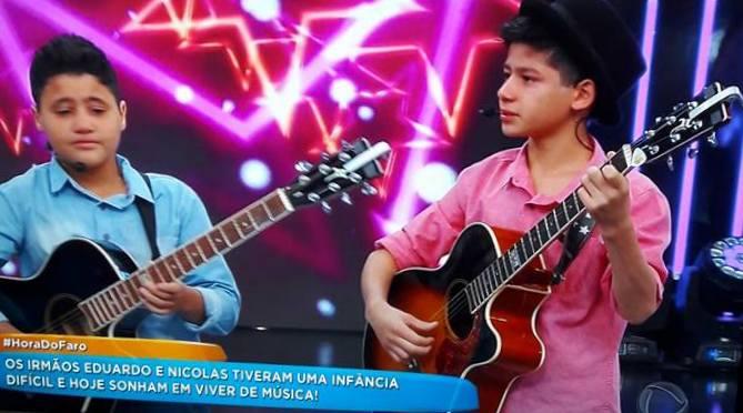 Dupla mirim de Guaraciaba é lançada nacionalmente em programa de televisão