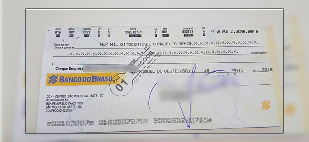 CDL registra ocorrência de cheques clonados no município