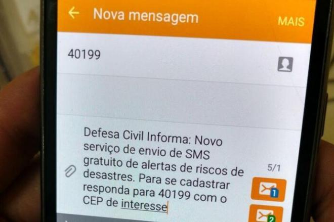 Serviço de alerta da Defesa Civil passará a funcionar em todo o estado catarinense