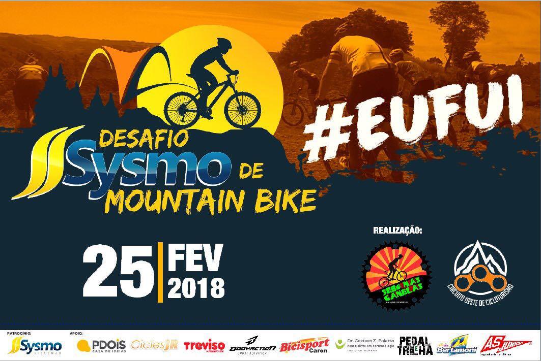 300 ciclistas participarão do Desafio Sysmo de Mountain Bike