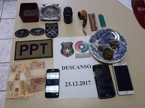 Três pessoas são presas por tráfico de drogas em Descanso