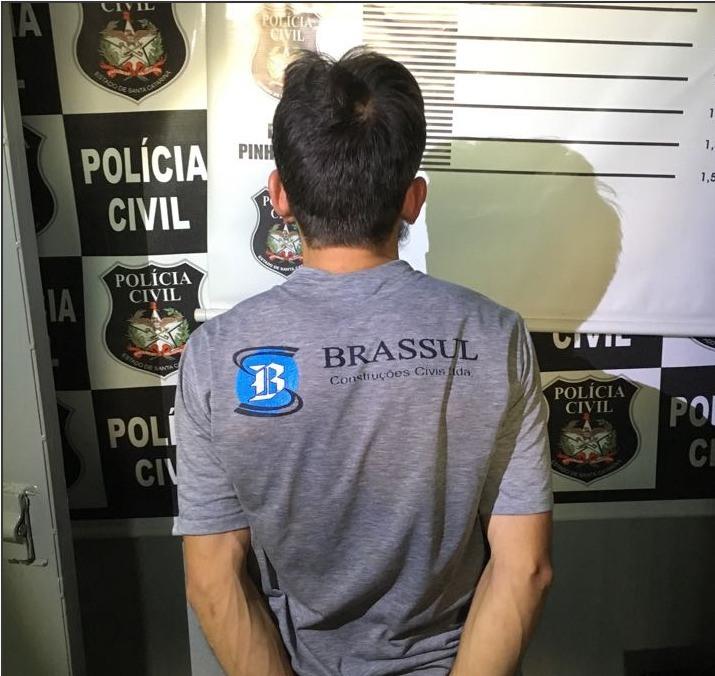 Polícia civil prende autor de violência doméstica em Pinhalzinho