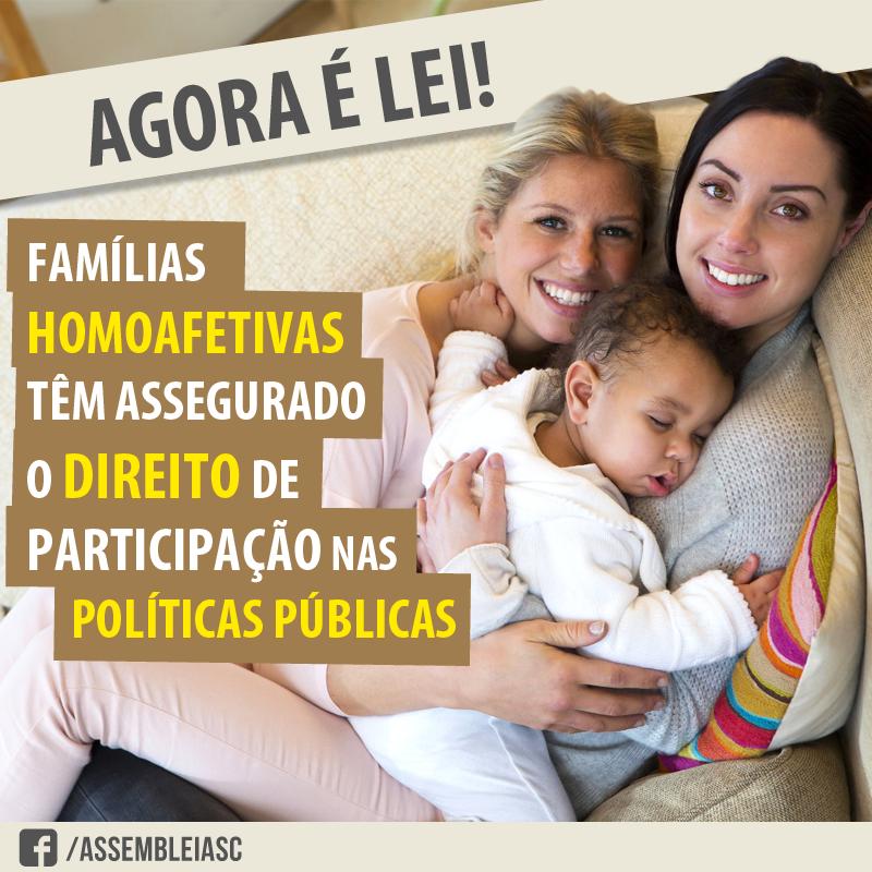 Nova lei garante benefícios sociais para famílias homoafetivas em SC