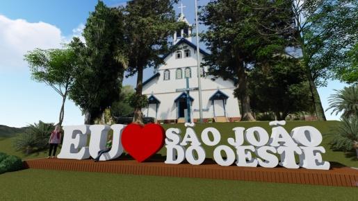 São João do Oeste irá instalar letreiro turístico na praça municipal