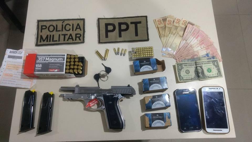 PPT realiza apreensão de Pistola e diversas munições em São Miguel do Oeste