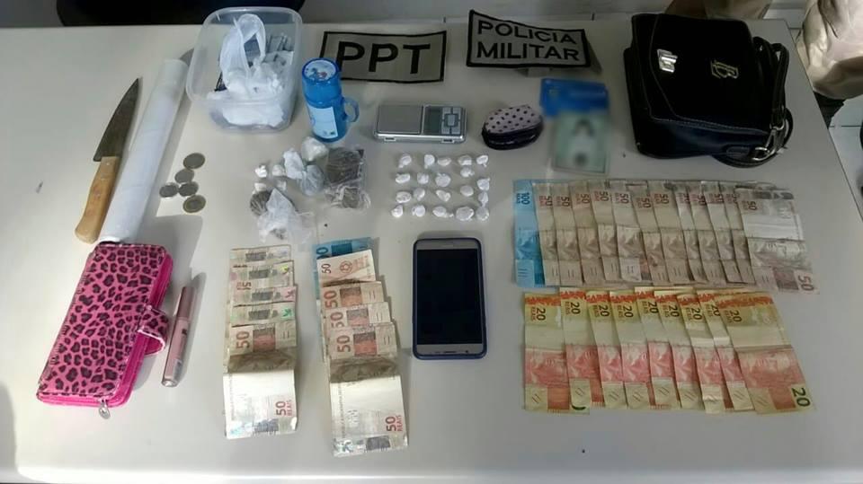 PM apreende drogas e dinheiro e prende traficantes em flagrante em São Miguel do Oeste