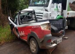 Picape de São Miguel do Oeste se envolve em acidente com morte na SC-154