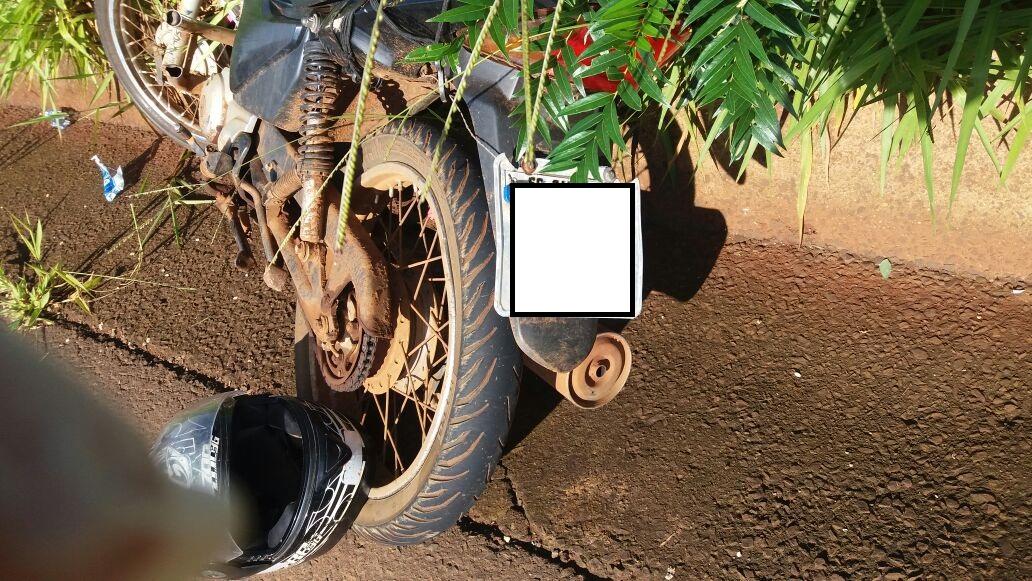 Motociclista fica ferido em colisão na SC 160