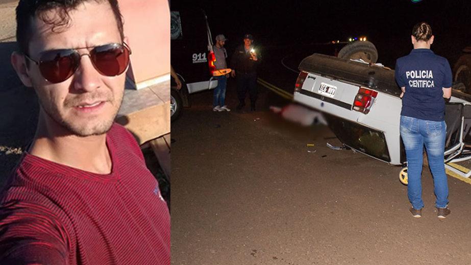 Motorista morre em acidente na Ruta 101 em Bernardo de Irigoyen