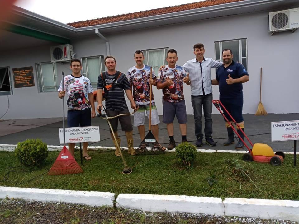 Hospital de Guaraciaba recebe melhorias na parte externa