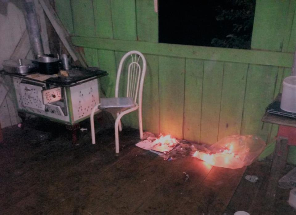 Homem coloca fogo na própria residência