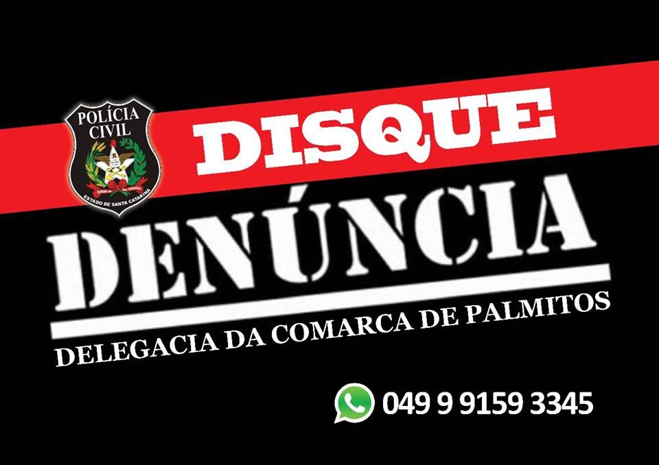 Polícia Civil de Palmitos disponibiliza número de WhatsApp para atendimento a população