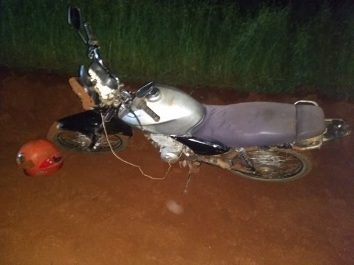 Homem foge da PM após queda de moto em São José do Cedro