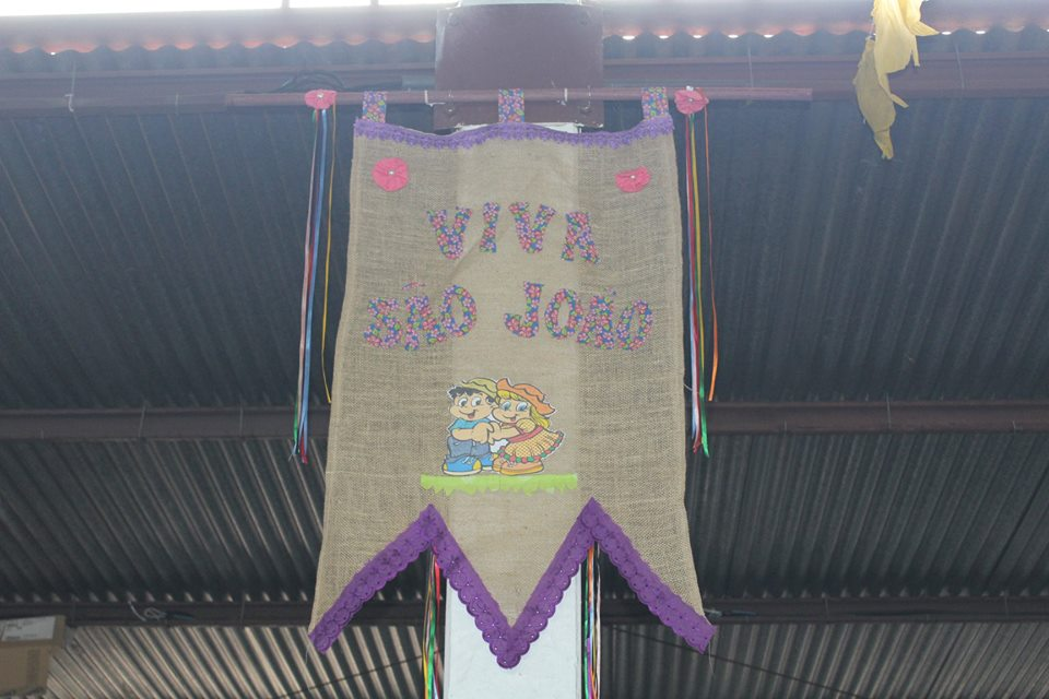 Gruta São Cristóvão recebe decoração para o Arraial Cedrense