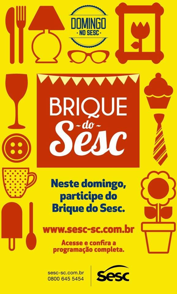 Domingo terá edição do Brique do Sesc em São Miguel do Oeste